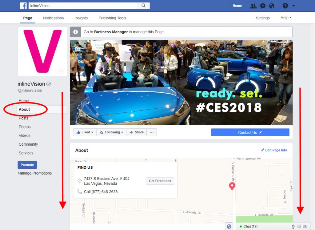 facebook Page About Tab