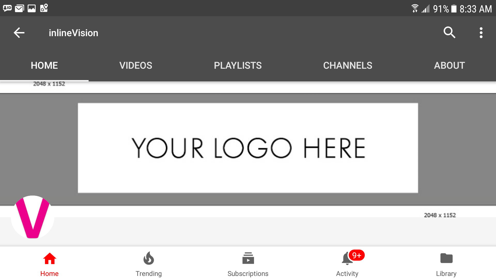 Youtube Channel Art Template Image Size 2560 X 1440