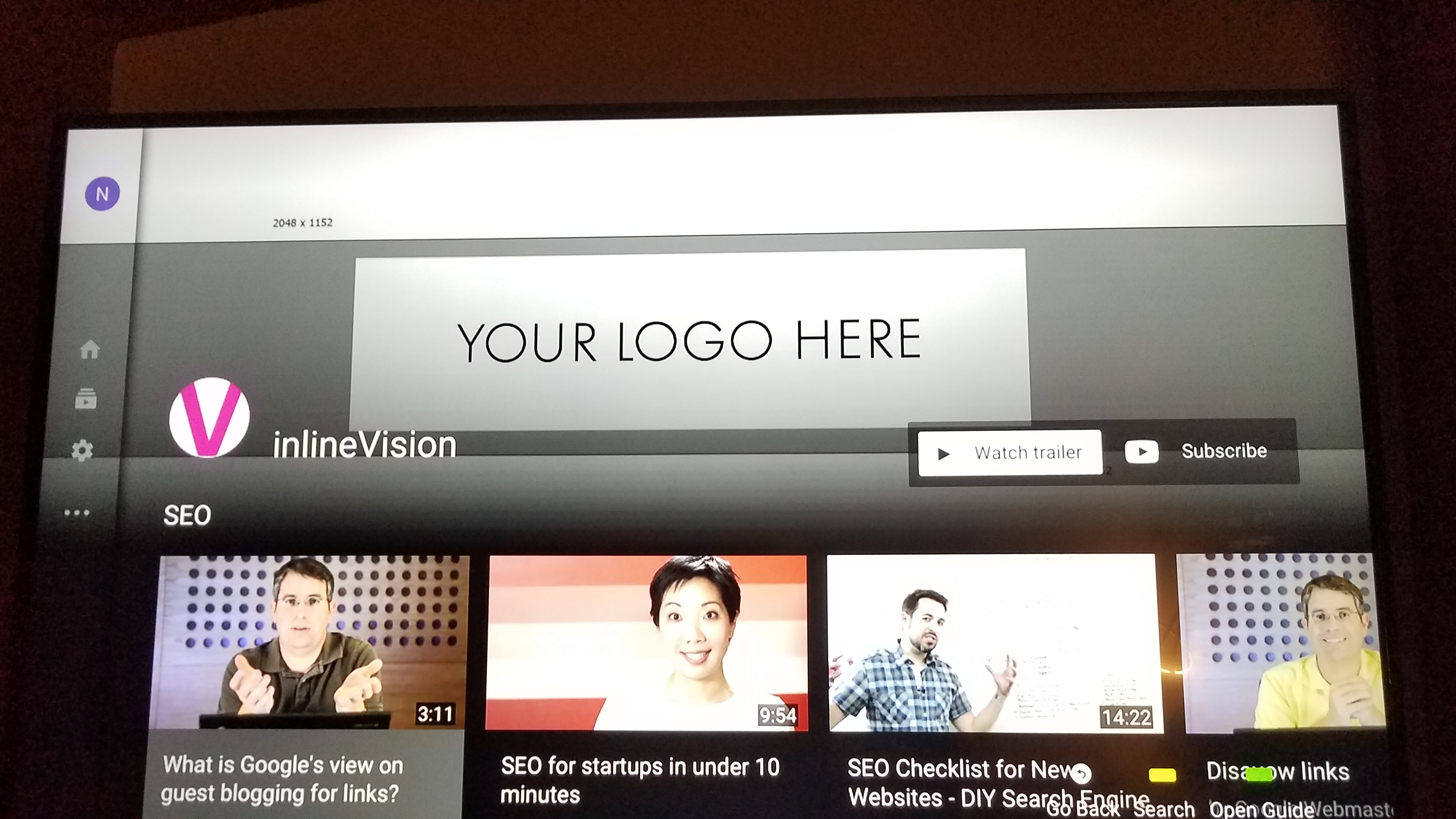 Youtube Channel Art Size 2120x1152 Smart Tv Inlinevision Web